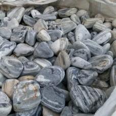 Камень декоративный природный натуральный камень галька / Black Angel pebbles / Турция / 5-10 см.